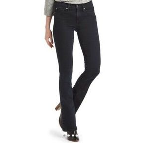 Women's black baby boot jeans.